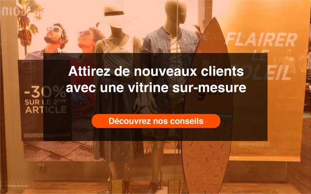 Call to action Vitrine sur mesure